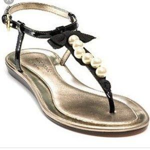 3587f7fdbfd9 kate spade. Kate Spade Ivana Pearl Thong Sandals Sz 7 Black.  25  200